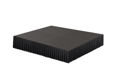 64 SQ. FT STAGE SYSTEM W/ SKIRTING - 8 FT X 8 FT X 16""