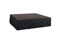 64 SQ. FT STAGE SYSTEM W/ SKIRTING - 8 FT X 8 FT X 24""