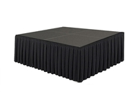 64 SQ. FT STAGE SYSTEM W/ SKIRTING - 8 FT X 8 FT X 32""