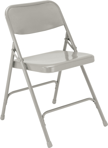 All-Steel Executive Folding Chairs - Silver