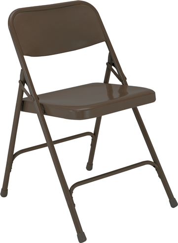 All-Steel Executive Folding Chairs - Dark Brown