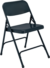 All-Steel Executive Folding Chairs - Dark Blue