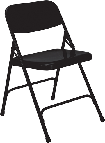 All-Steel Executive Folding Chairs - Black