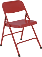 All-Steel Executive Folding Chairs - Red