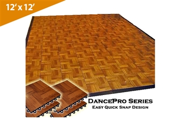 DancePro Modular, Portable Wooden Dance Floor ( 12' x 12' )